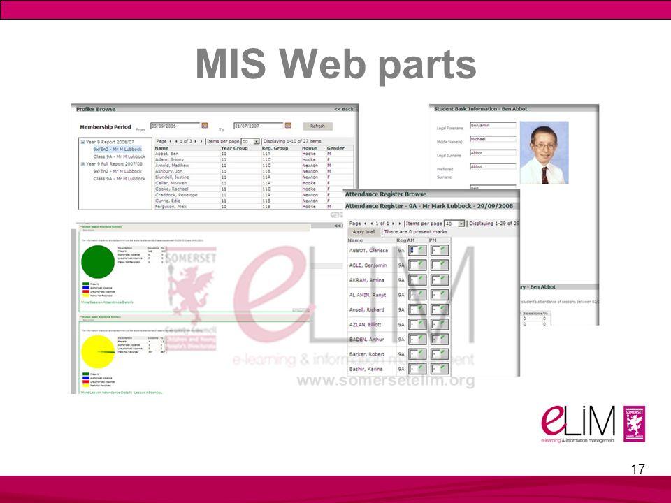 MIS Web parts 17