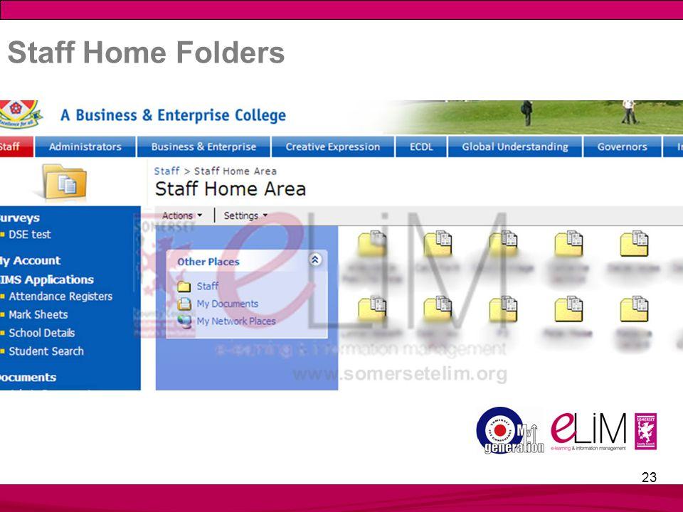 23 Staff Home Folders