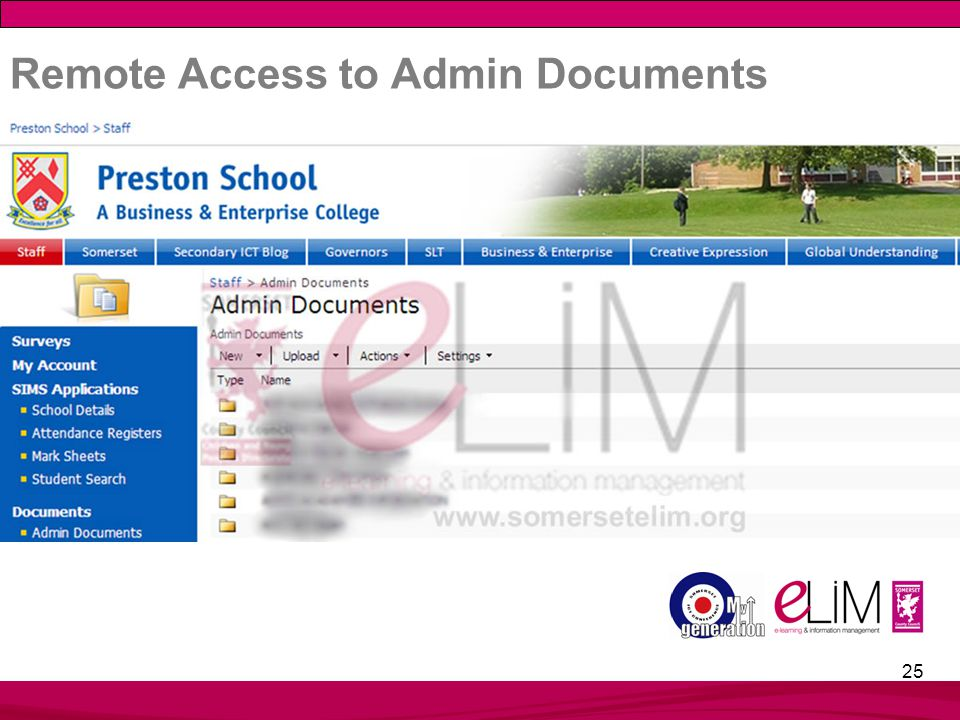 25 Remote Access to Admin Documents