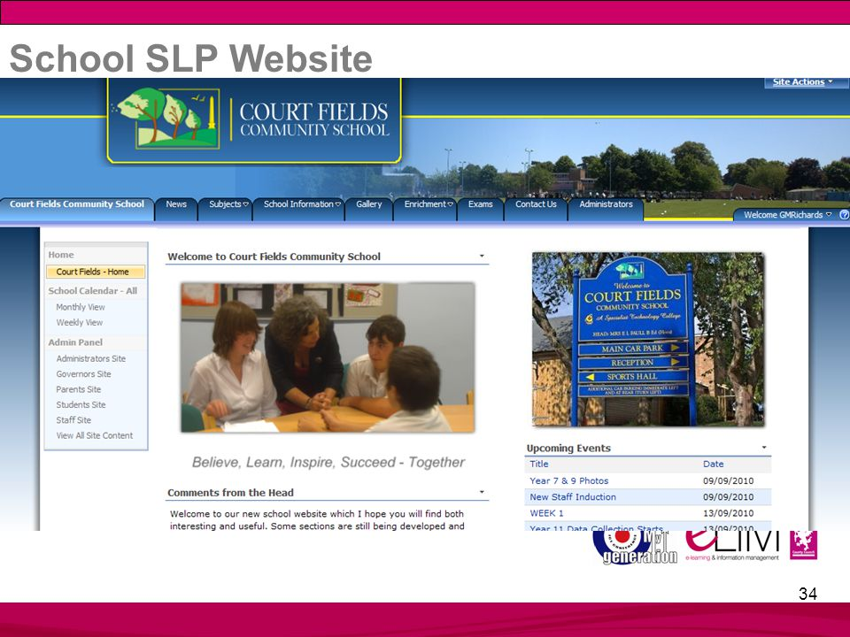 34 School SLP Website