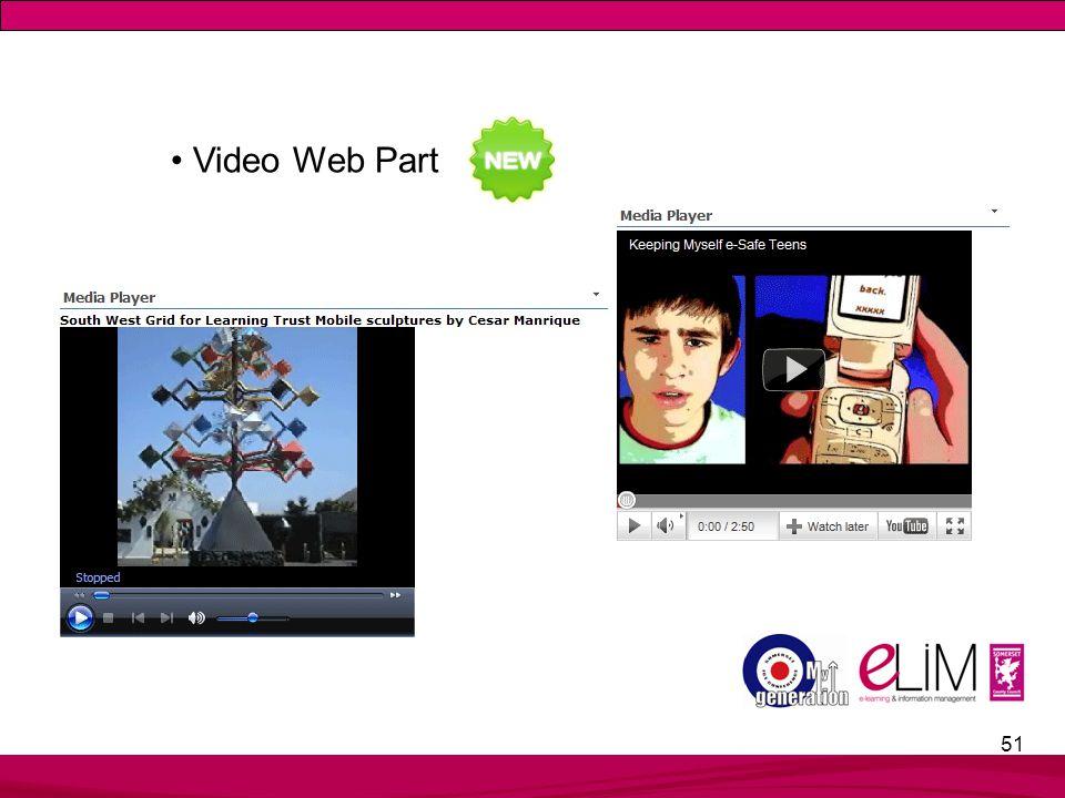 51 Video Web Part
