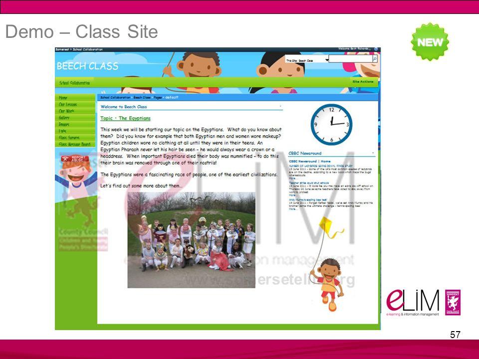 57 Demo – Class Site