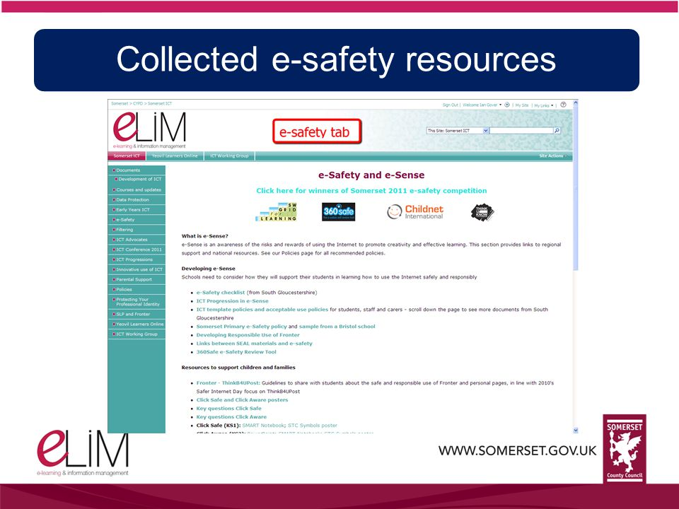 Collected e-safety resources