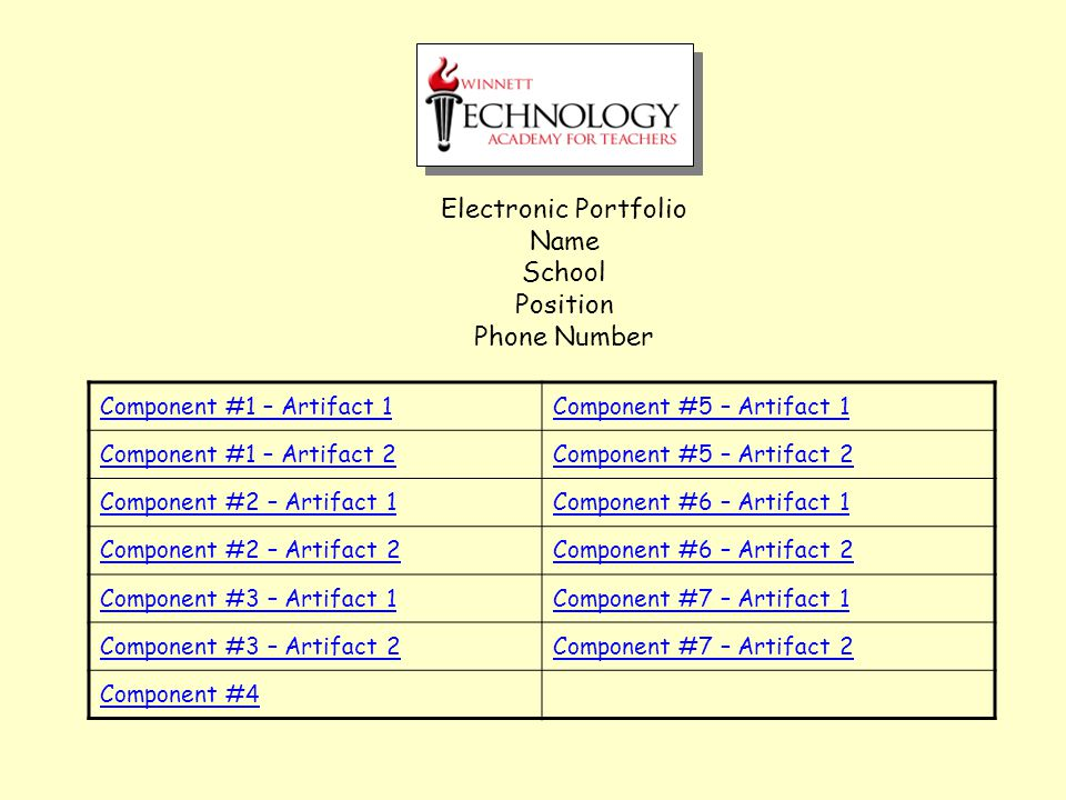 Component #6 Web Pages for Instruction Artifact 2 Insert your reflective paragraph here.