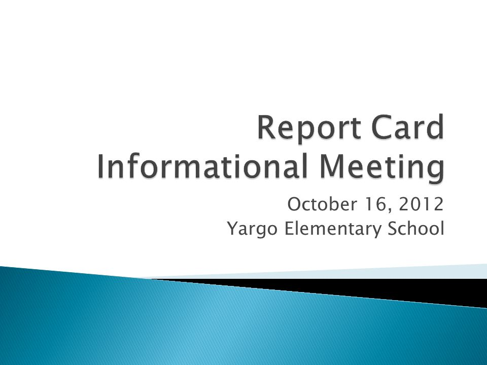 October 16, 2012 Yargo Elementary School