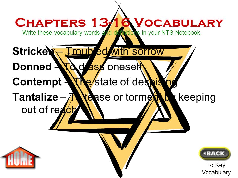 Chapters 9-12 Vocabulary Mourning – A feeling of grief or sadness Typhus – A severe infectious disease Surge – Flood or spill over Staccato – Hesitati