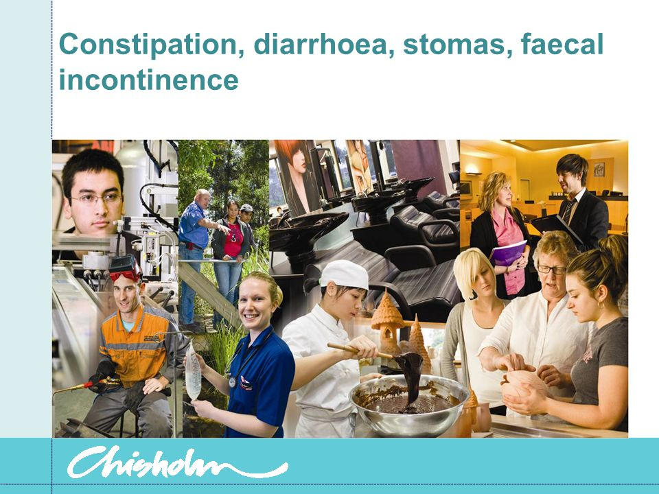 Constipation, diarrhoea, stomas, faecal incontinence