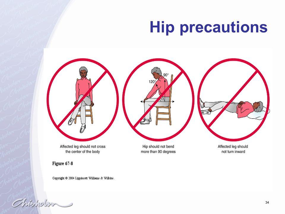 34 Hip precautions