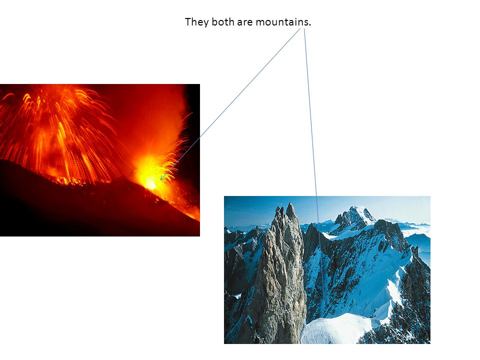 They both are mountains.