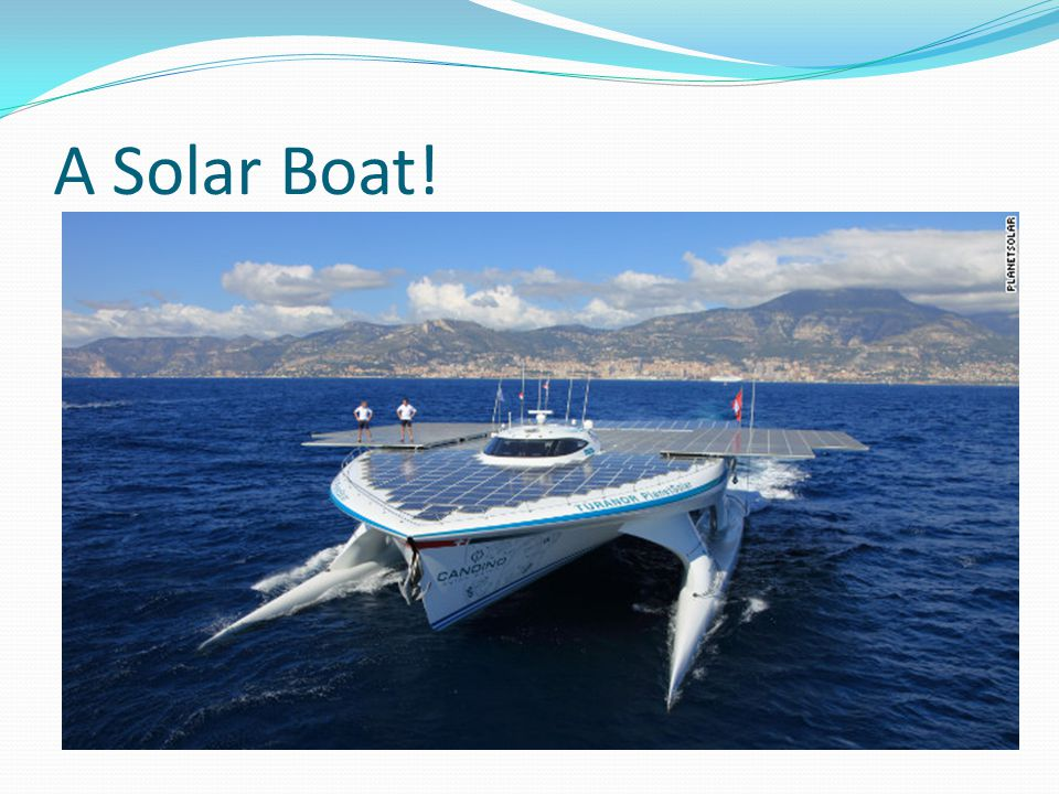 A Solar Boat!