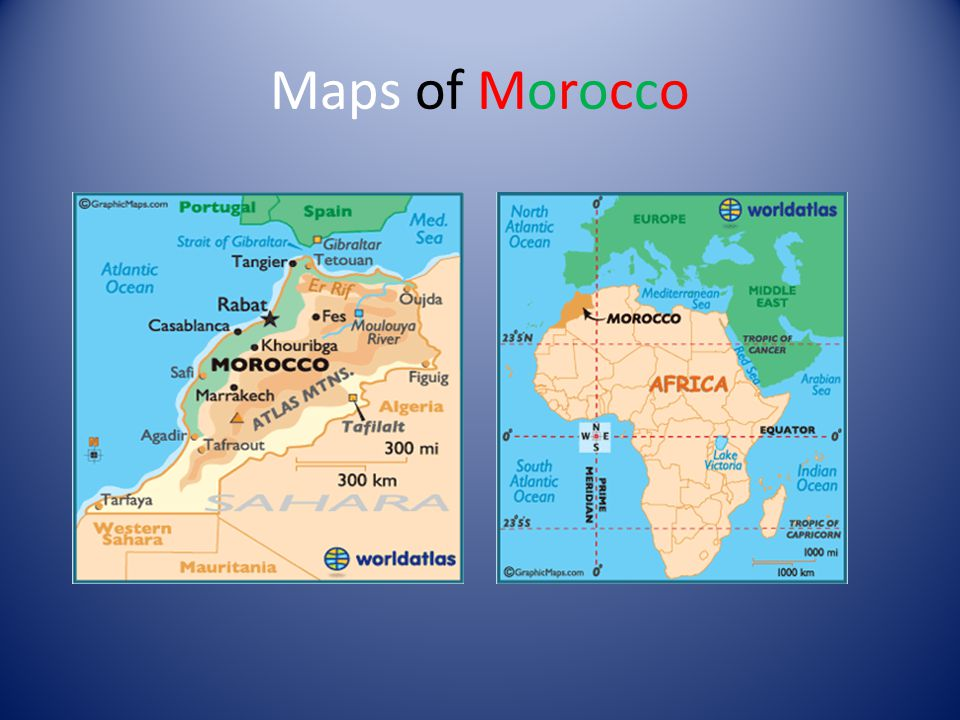 Maps of Morocco