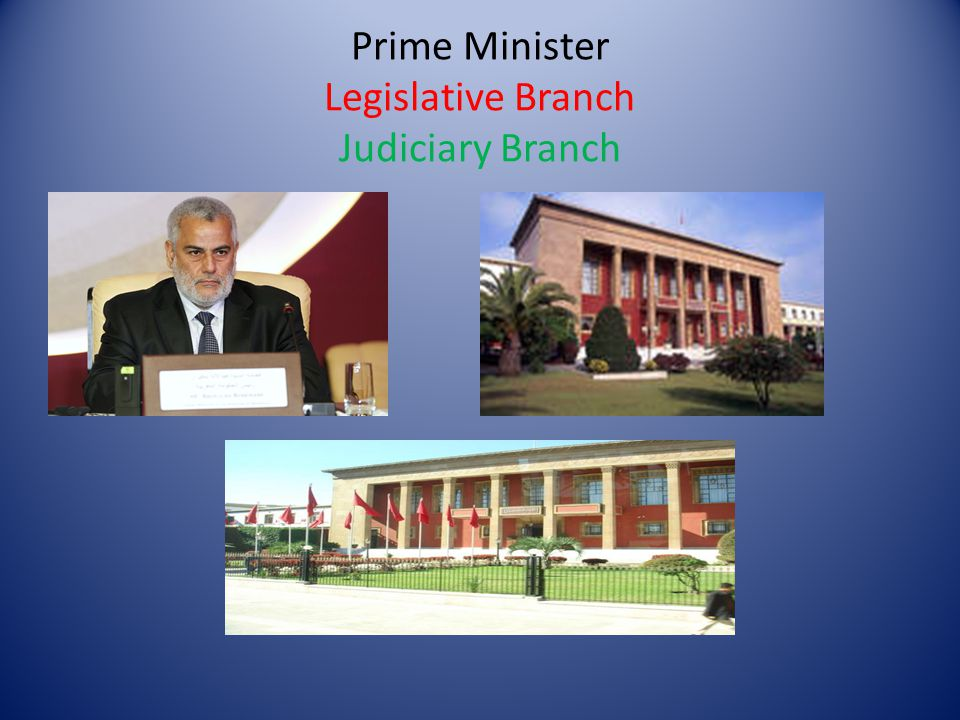 Prime Minister Legislative Branch Judiciary Branch
