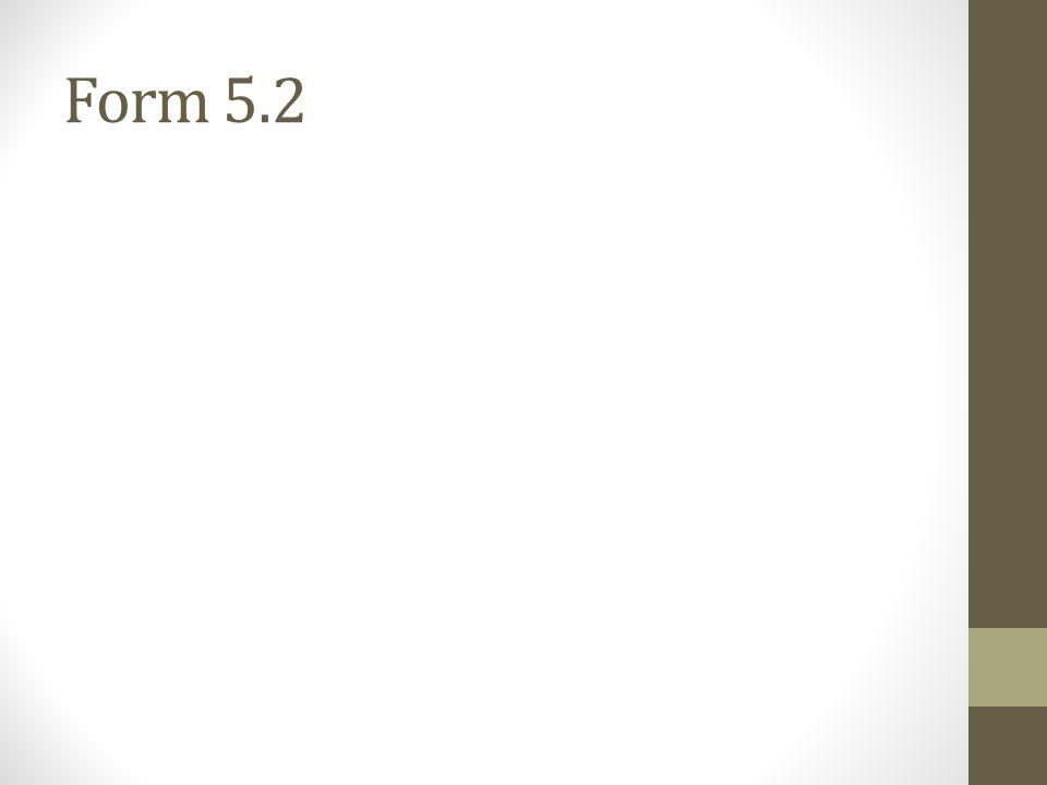 Form 5.2