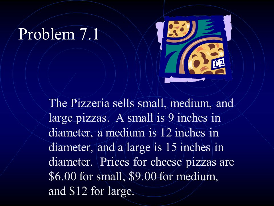 Part A Draw a 9-inch, a 12-inch, and a 15-inch pizza on centimeter grid paper.