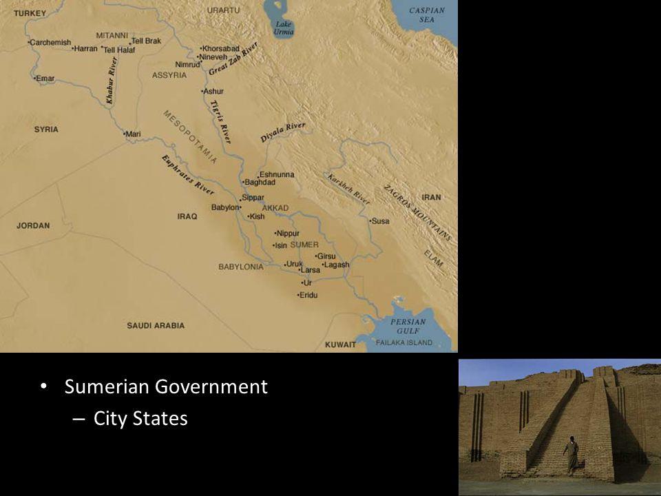 Sumerian Government – City States