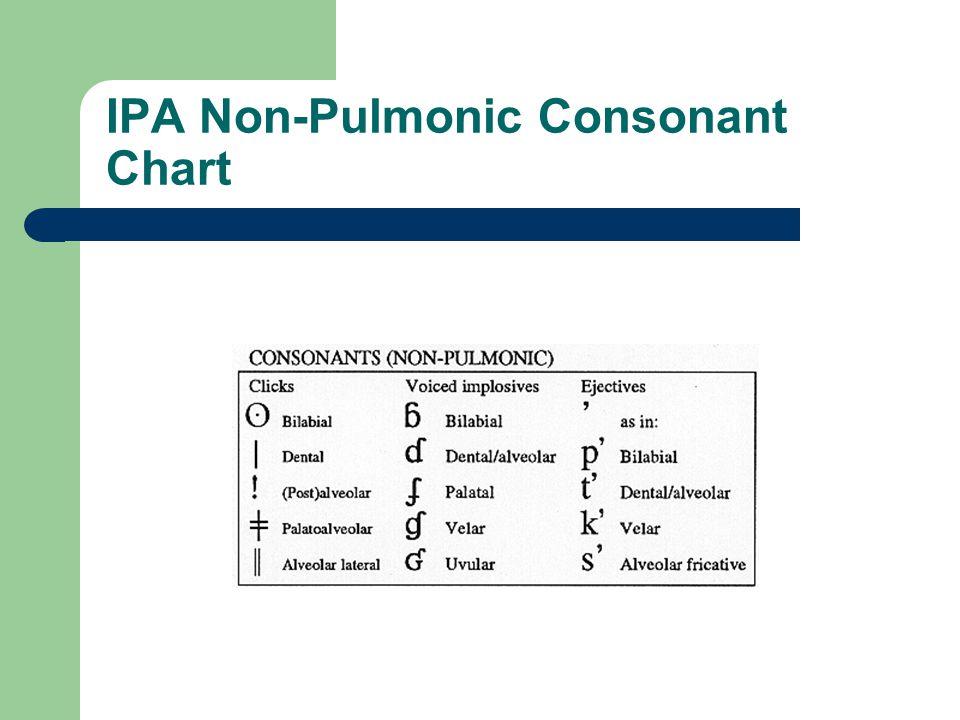 IPA Non-Pulmonic Consonant Chart