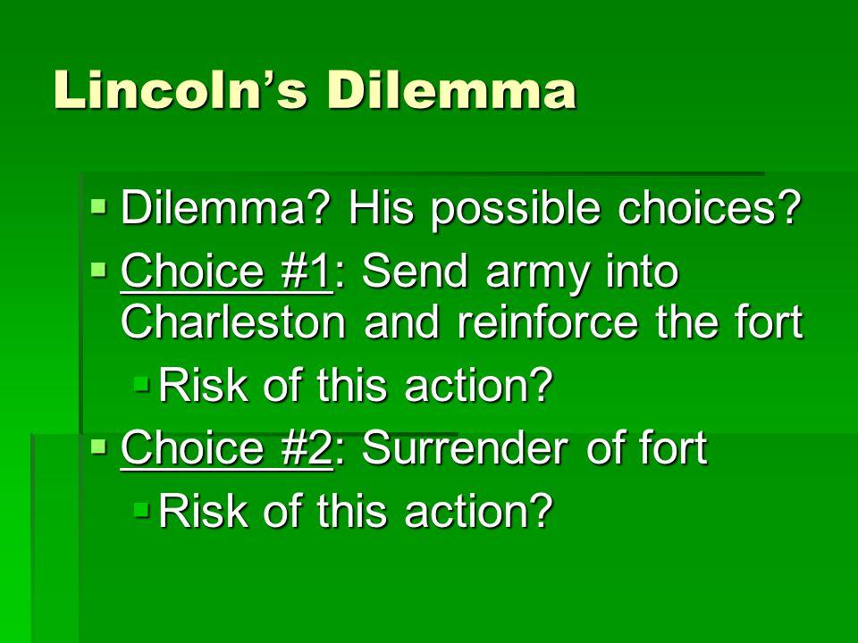 Davis' Options  Option #1: Do nothing  Risk.