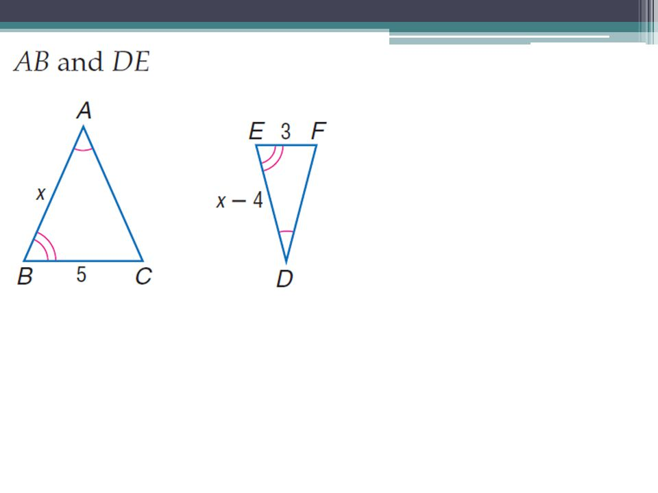 Are these triangles similar, if so, then why.Can you find x.