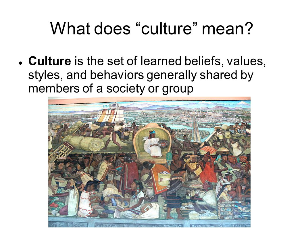 What does culture mean.