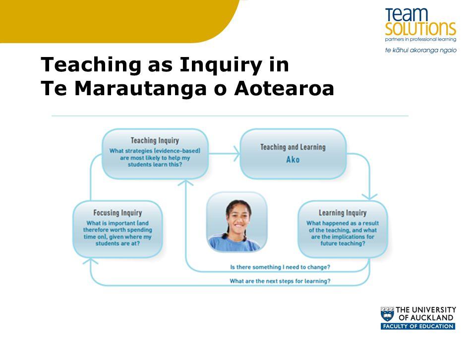 Teaching as Inquiry in Te Marautanga o Aotearoa