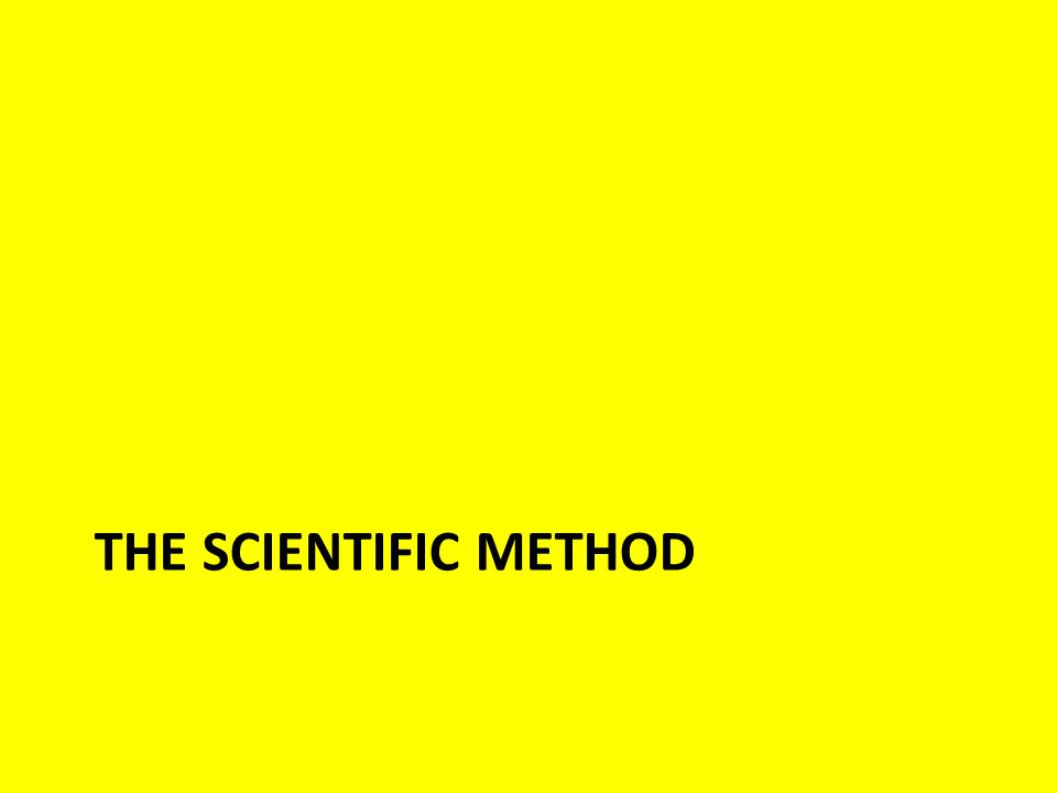 The Scientific Method Identify a problem you would like to solve Formulate a hypothesis – A hypothesis is a scientist's best estimation, based on scientific knowledge and assumptions, of what the answer to the problem is.