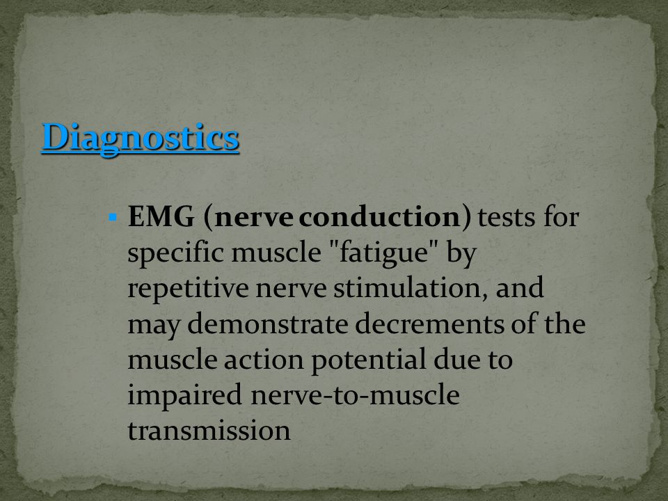  EMG (nerve conduction) tests for specific muscle
