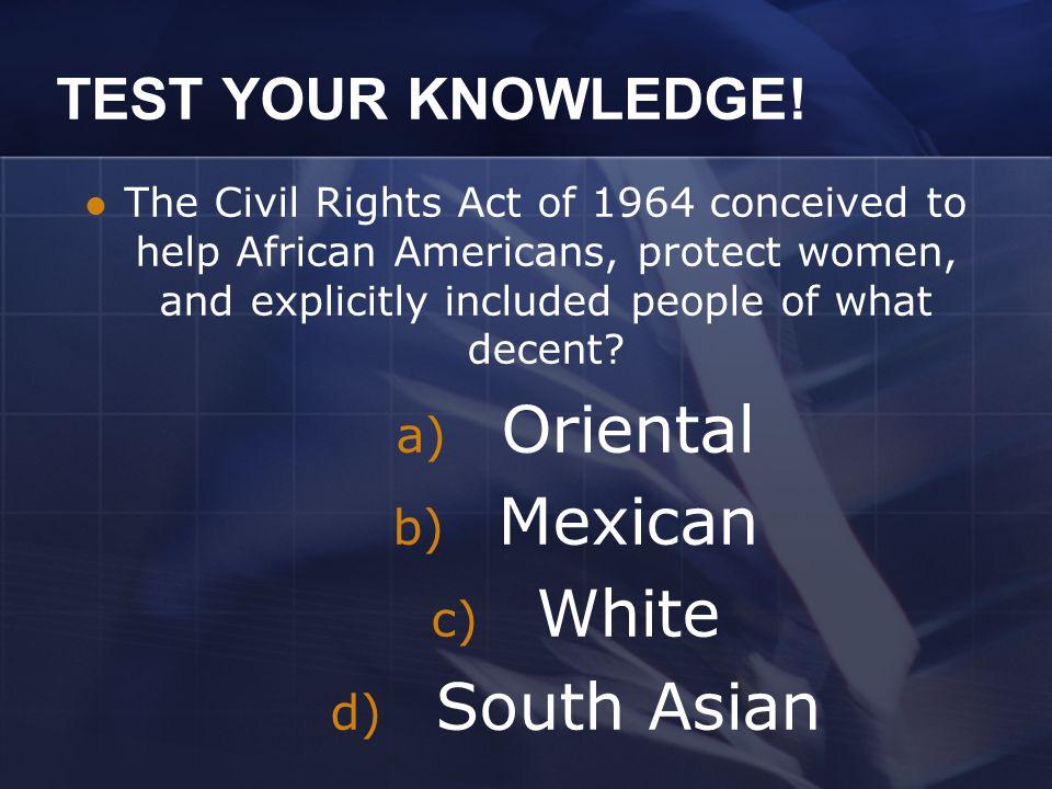 TEST YOUR KNOWLEDGE! The Selma March was lead by the? a) Boynton Family b) Johnson Family c) Lexington Family d) Selma Family