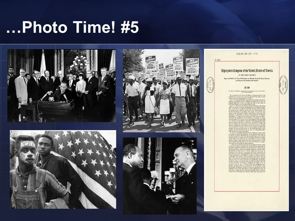 The Voting Rights Act of 1965 The house of representatives passed the voting rights bill which authorized attorney general to send federal examiners t