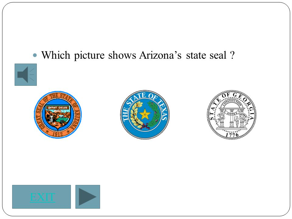 Click on Arizona's state flag.