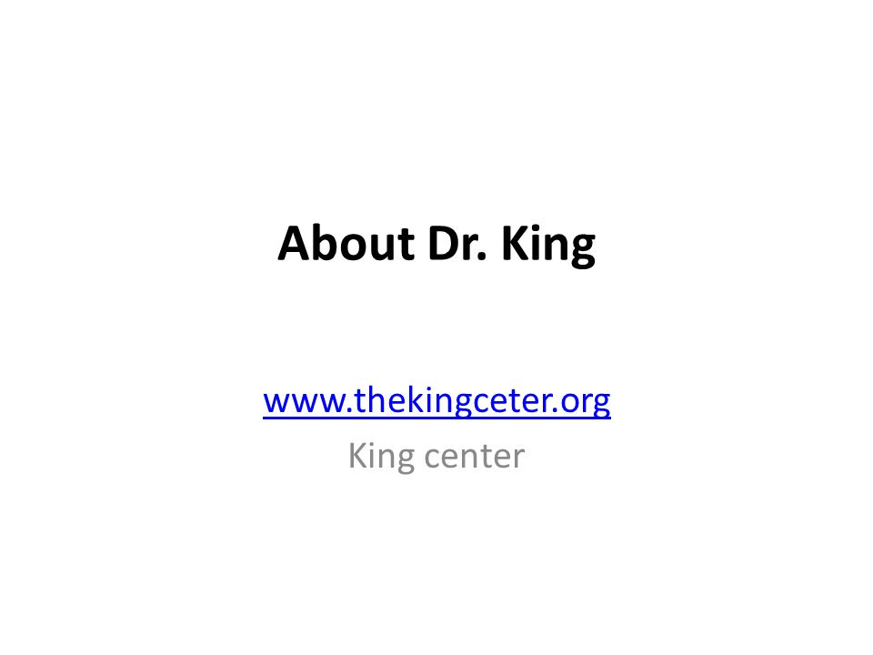 The main idea of this article is to show how Dr.King was a great man.