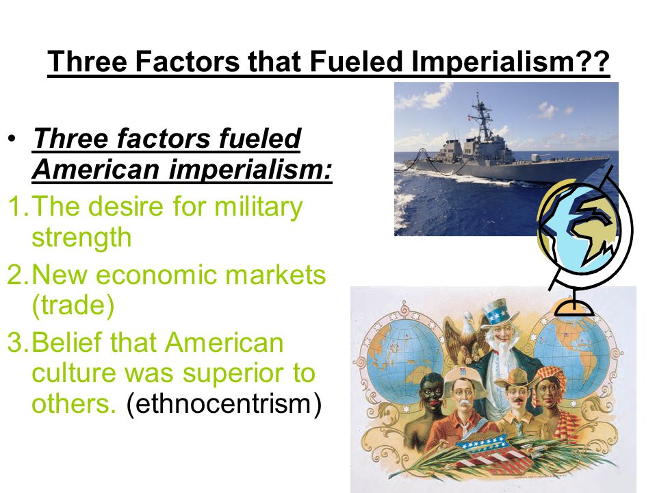 This idea was called imperialism —the policy in which stronger nations extend economic, political or military control over weaker territories. What is