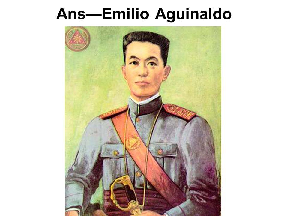 Filipino rebel who fought against U.S.