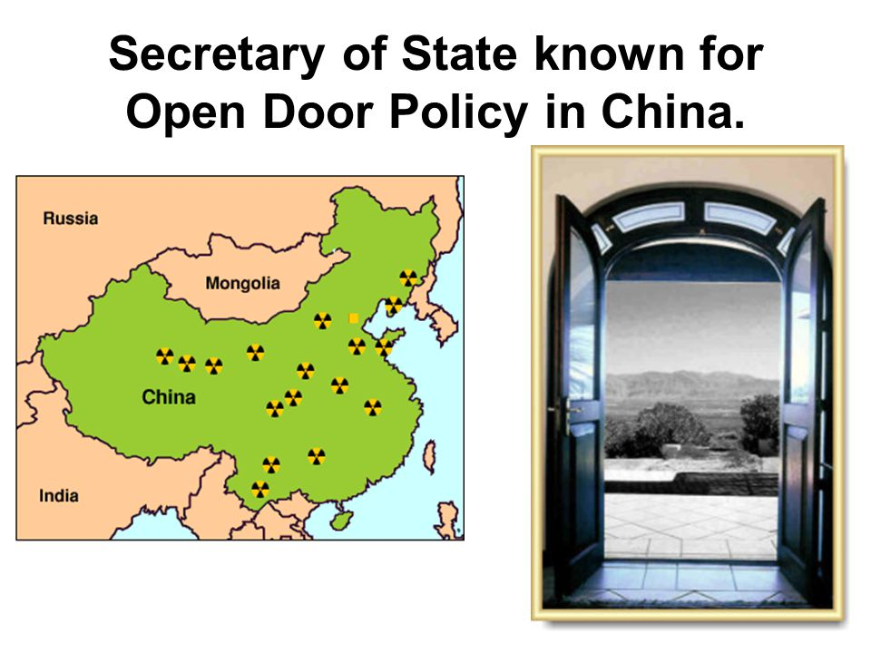 Ans—Open Door policy.