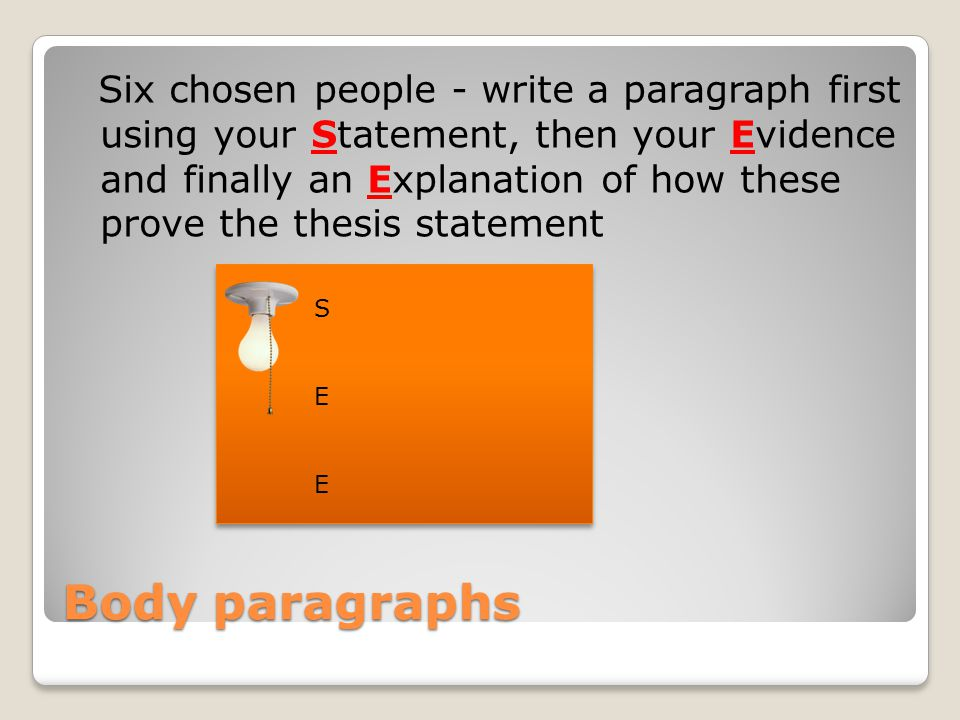 Conclusion You already have the firm statement to be proven written first in the paragraph.