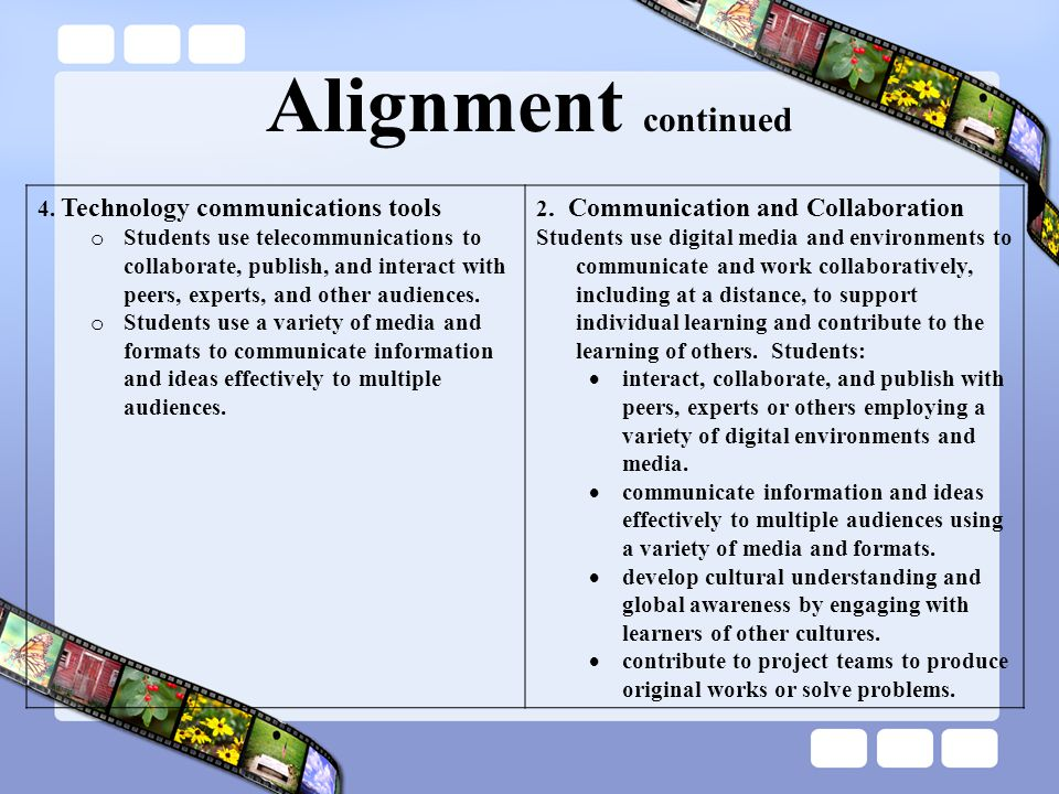 Alignment continued 4.