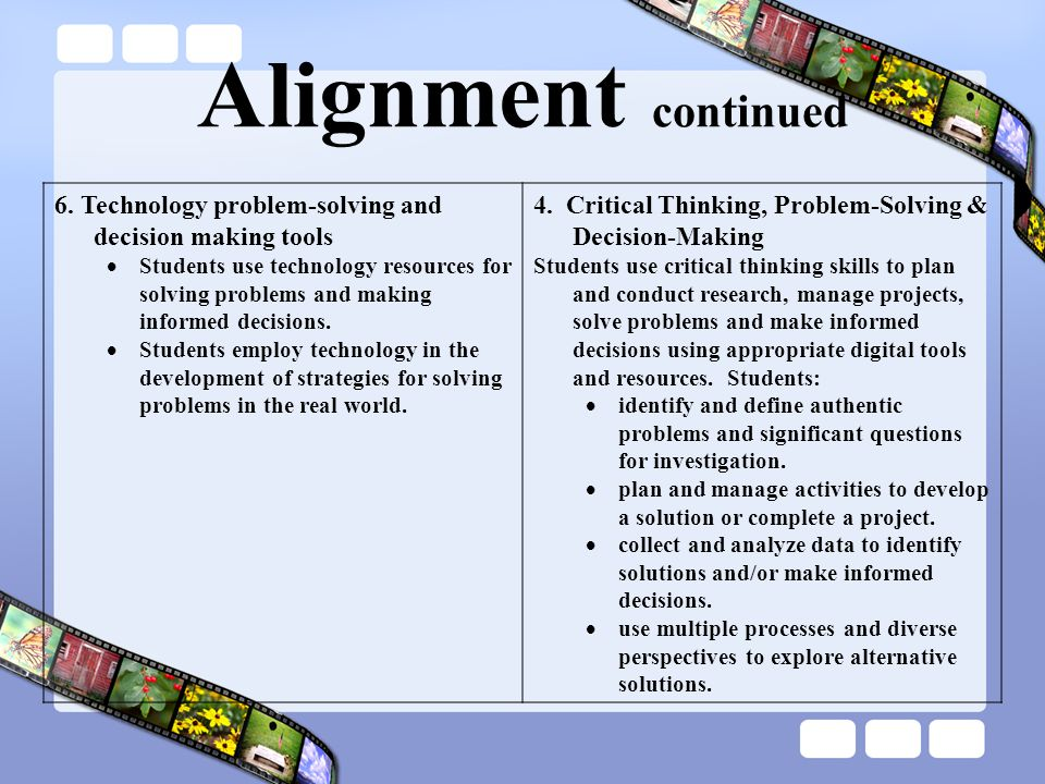 Alignment continued 6.