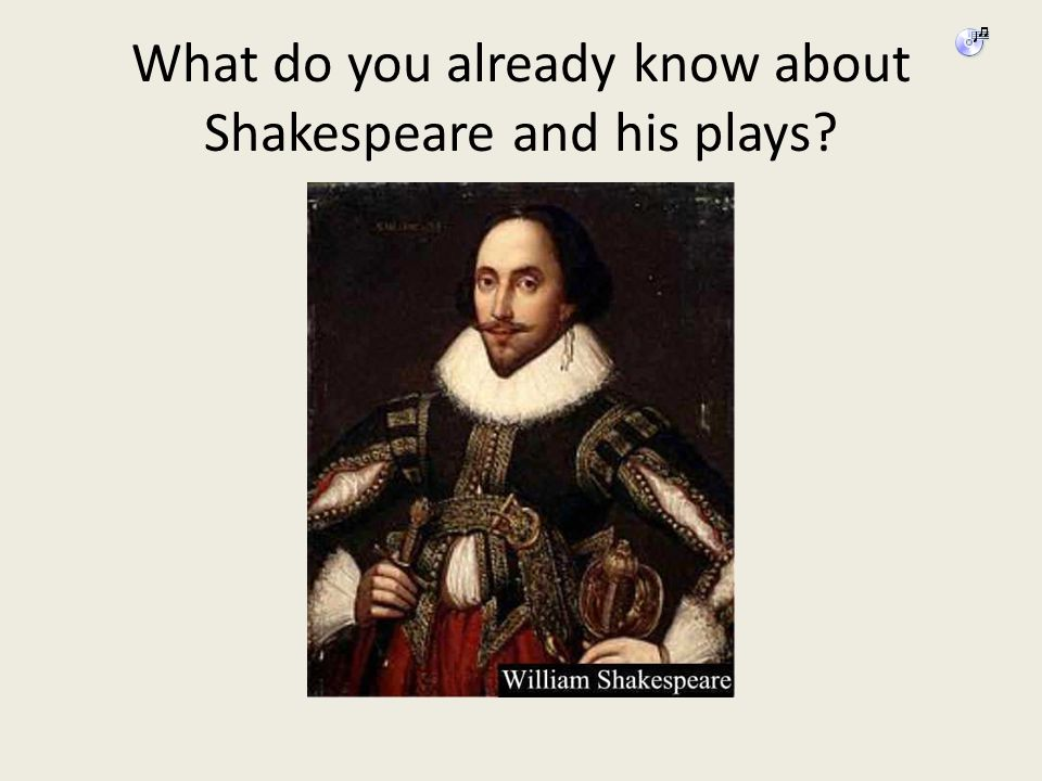What do you already know about Shakespeare and his plays?