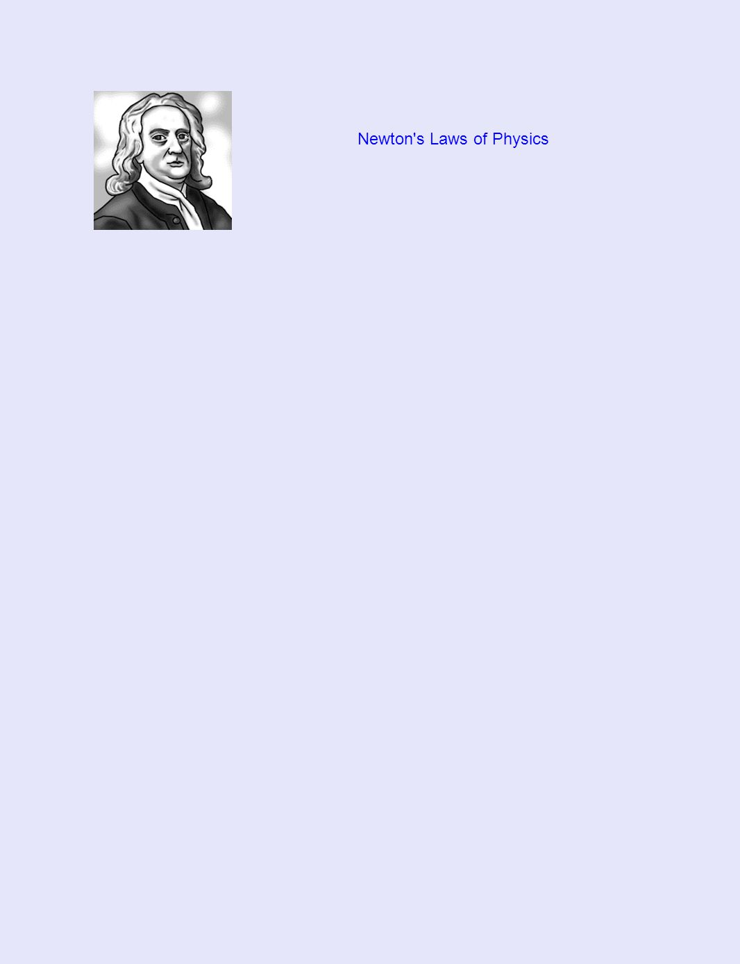 Newton's Laws of Physics