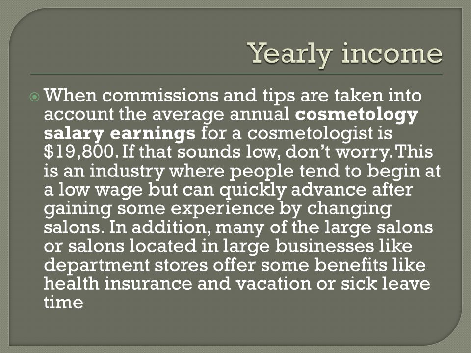  There is just something so chic sounding about the word Cosmetologist.