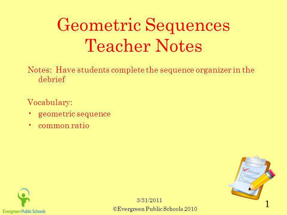 Geometric Sequences Recursive Formula 2