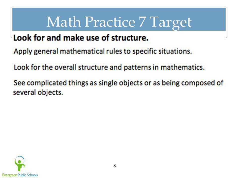 Math Practice 8 Target 4
