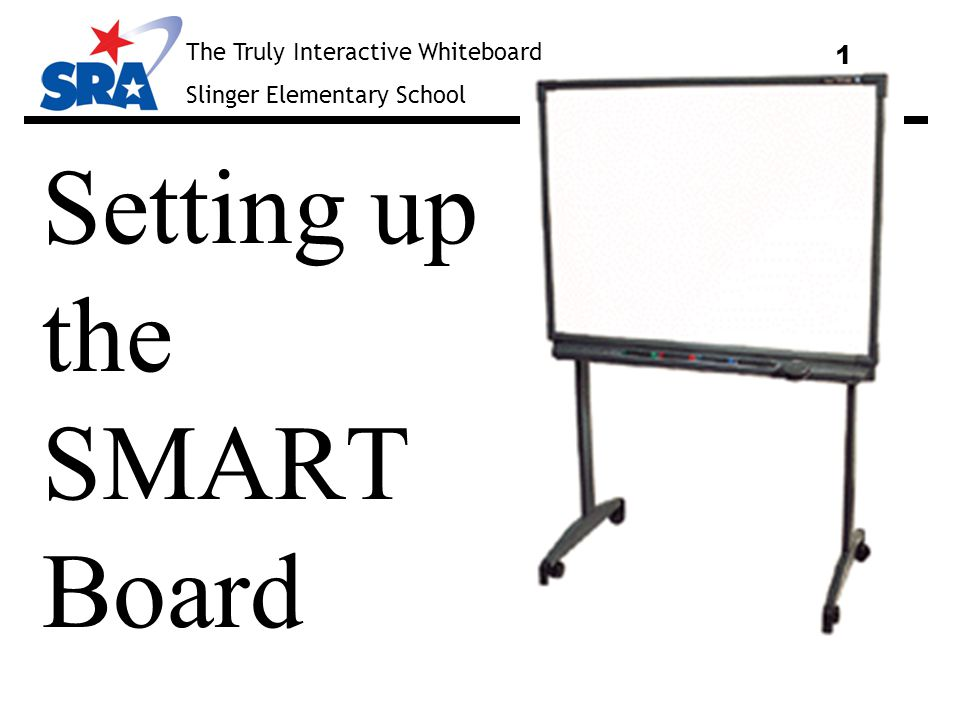 The Truly Interactive Whiteboard Slinger Elementary School 2 Shut down and turn off your computer before proceeding!