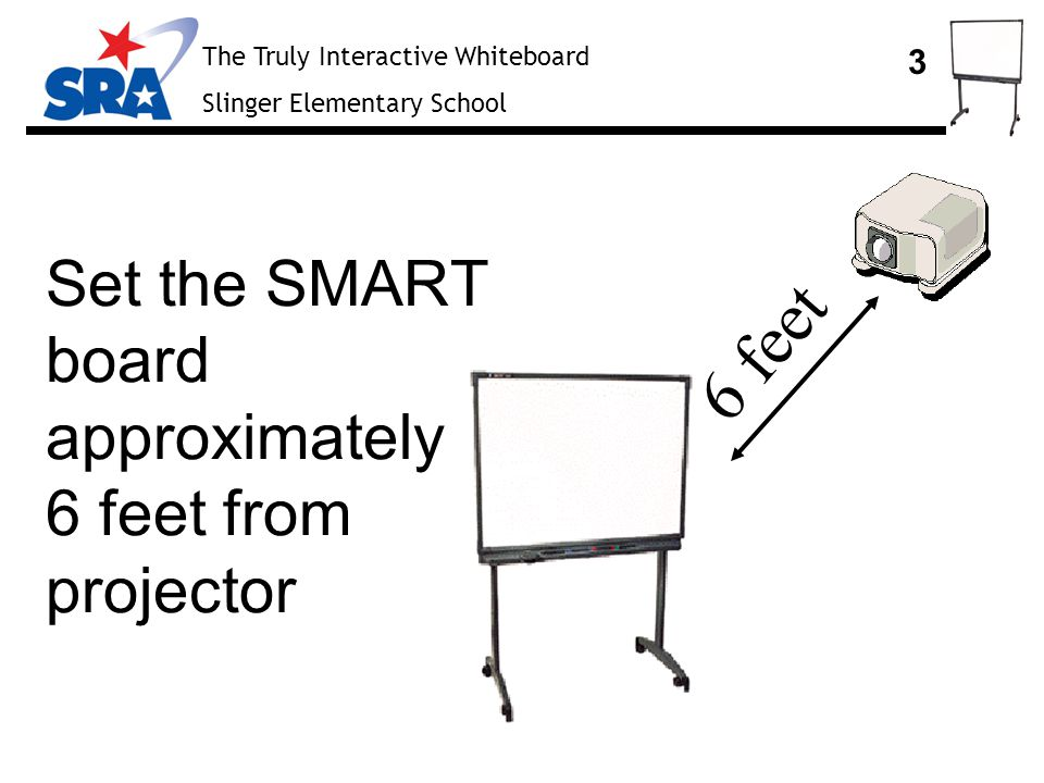 The Truly Interactive Whiteboard Slinger Elementary School 4 Set the pens and eraser in the appropriate trays