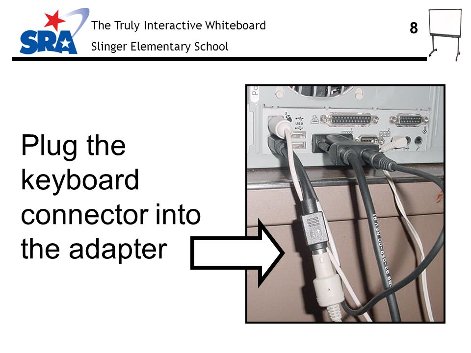 The Truly Interactive Whiteboard Slinger Elementary School 19 At your computer, from the SMART board software menu, select Orient