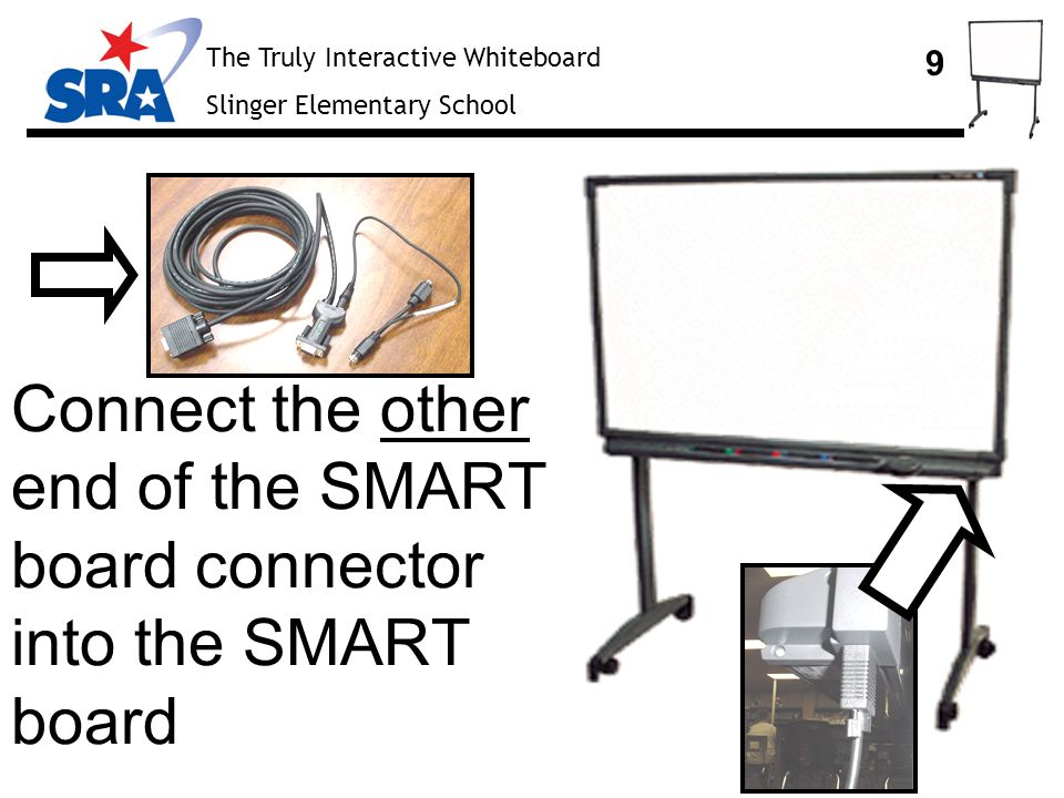 The Truly Interactive Whiteboard Slinger Elementary School 10 Setting up the Projector