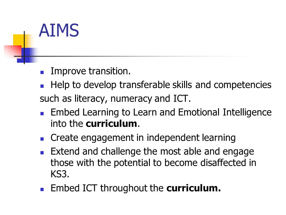 AIMS Improve transition.
