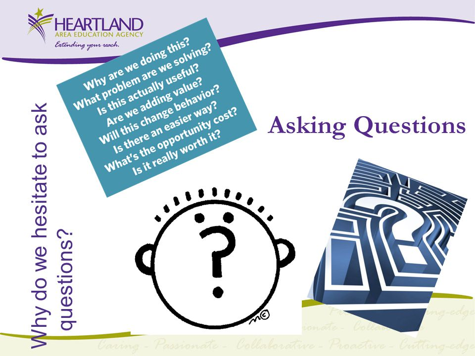 Asking Questions Why do we hesitate to ask questions