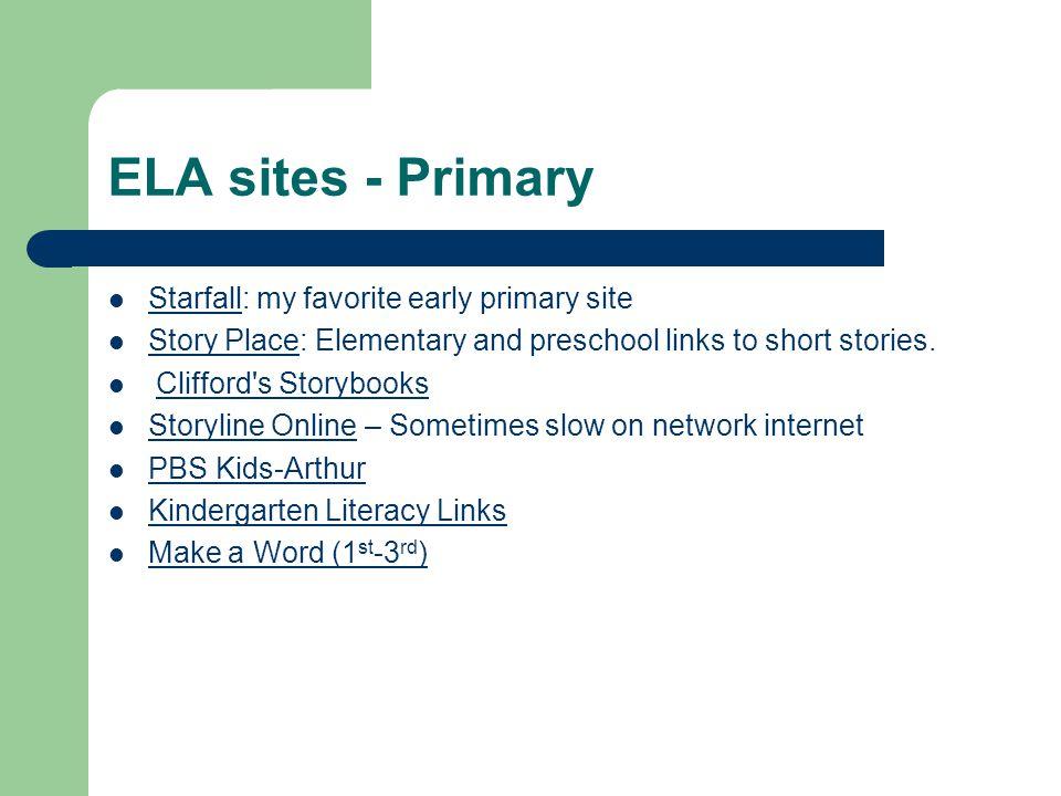 ELA sites - Intermediate Kids Reads.com – Interviews with authors, book reviews, book trivia and more.