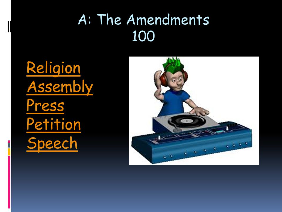 Q: Powers of Government 200 The Power to declare war.