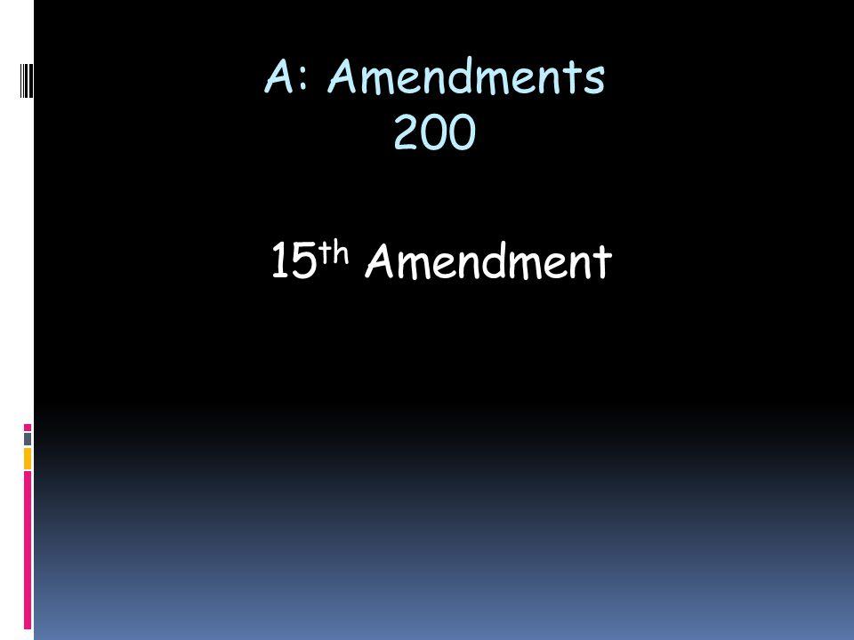 15 th Amendment A: Amendments 200